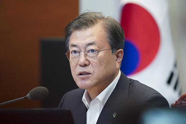 문재인 대통령이 22일 오후 청와대에서 열린 제6차 공정사회 반부패정책협의회에서 발언하고 있다. (사진=청와대)