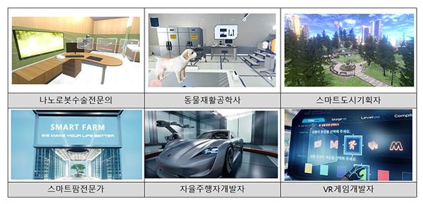 미래직업 VR콘텐츠 화면예시.
