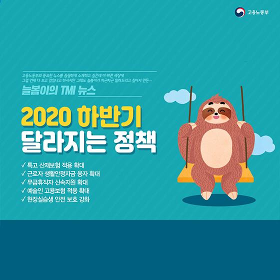 2020 하반기 달라지는 정책