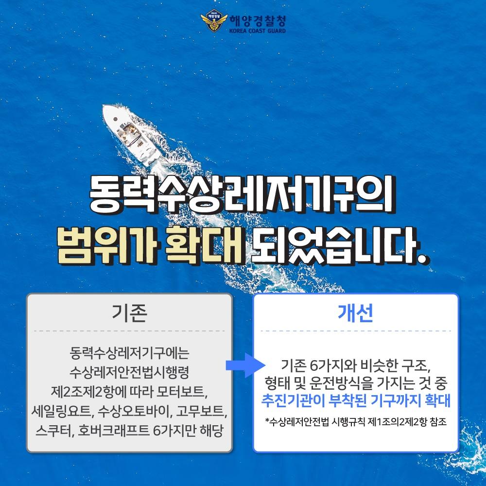 해양경찰청 2020 규제혁신 대표사례