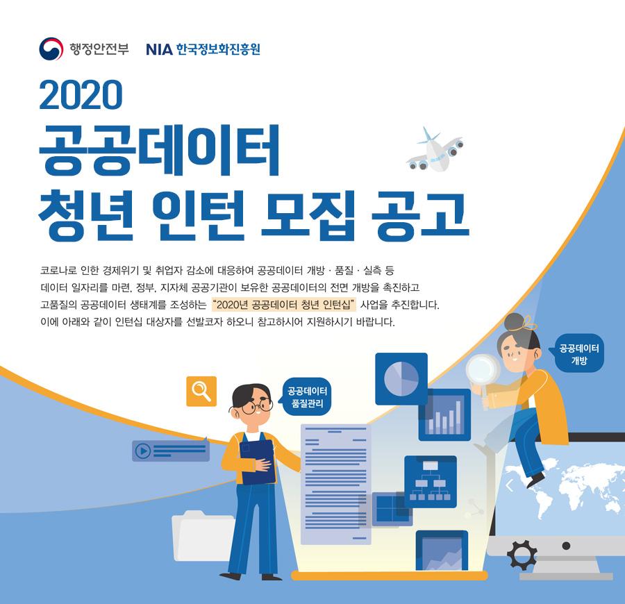 2020 공공데이터 청년 인턴 모집 공고.(출처=공공데이터포털)