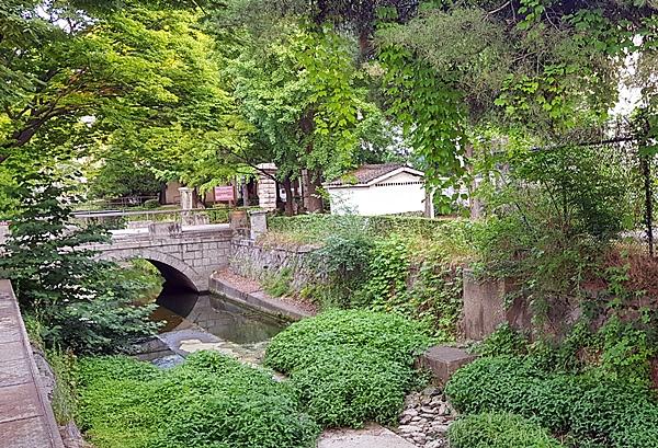 인왕산에서 시작된 물줄기가 이어진 만초천에는 간혹 학이 날아오는 걸 볼 수 있는데 마치 무릉도원같단다.