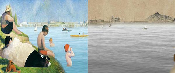 이이남 작가의 크로스 오버 쇠라(Crossover Seurat, 문화체육관광부 제공)