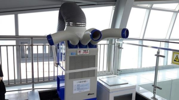 모노레일 지상철인 도시철도 3호선에는 이동형 냉풍기가 있다.