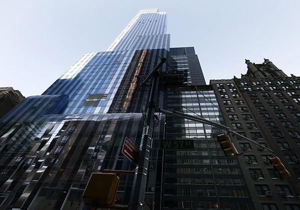 뉴욕 초고층 아파트. (사진=저작권자(c) EPA/연합뉴스, 무단 전재-재배포 금지)