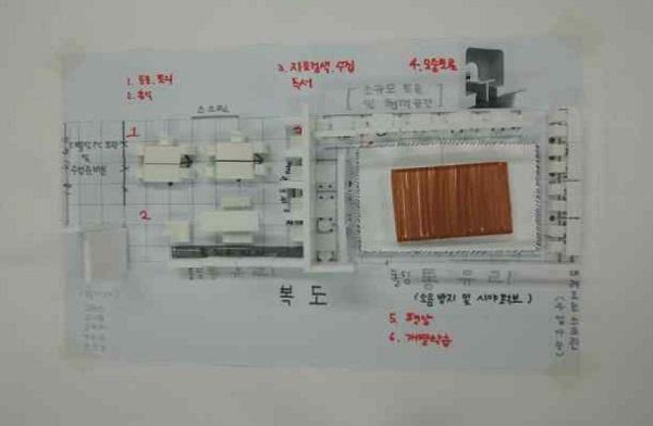 치약고등학교 학생과 교사가 함께 만들어가는 공간혁신 설계 디자인 모습.