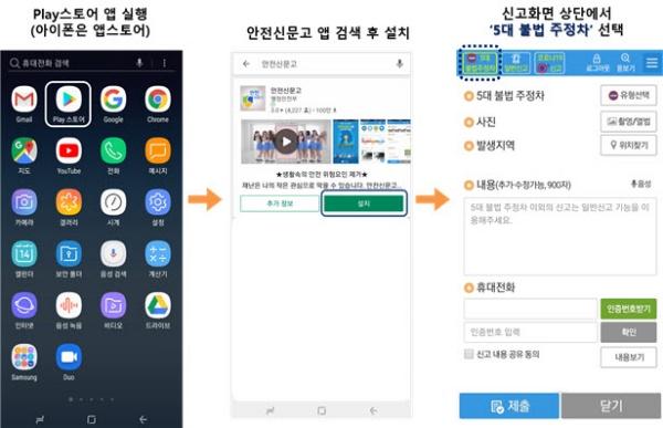 안전신문고 앱.(출처=행정안전부)