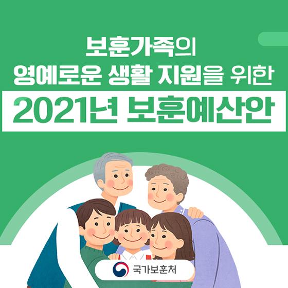 보훈가족의 영예로운 생활 지원을 위한 2021년 보훈예산안