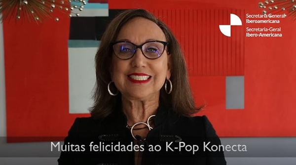 레베카 그린스판 이베로아메리카 사무국 사무총장의 축하 영상.