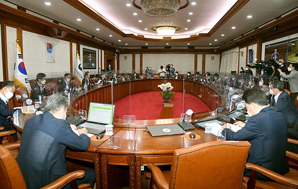 23일 정부서울청사에서 4차 추경안 의결을 위한 임시국무회의가 열렸다.