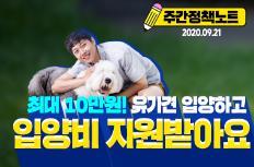 """[주간정책노트]  """"반려동물 사지 말고 입양하세요""""…최대 10만원 지원"""