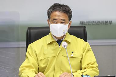 """박능후 장관 """"2주간 특별방역, 더 큰 희생 막기 위한 불가피한 선택"""""""