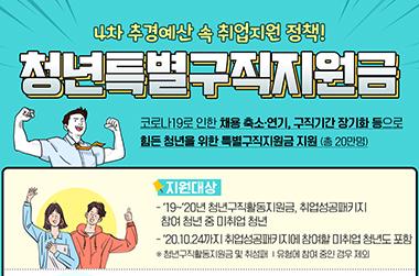 '1인당 50만원' 청년특별구직지원금 2차 신청 12일 개시