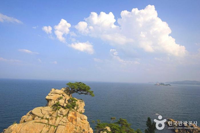 맑은 하늘과 푸른 바다가 끝없이 펼쳐져 있다.