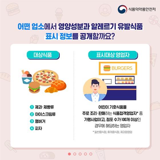 어린이 기호식품 영양성분 및 알레르기 유발 식품 정보를 확인하세요!