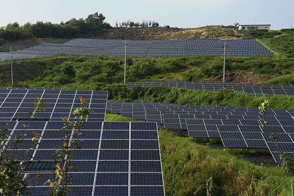 산지 태양광 발전시설. (사진=산림청)