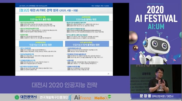 지난 9월 3일 인공지능과 문화예술이 어우러지는 '2020 AI Week 페스티벌'이 온라인 개최 모습.