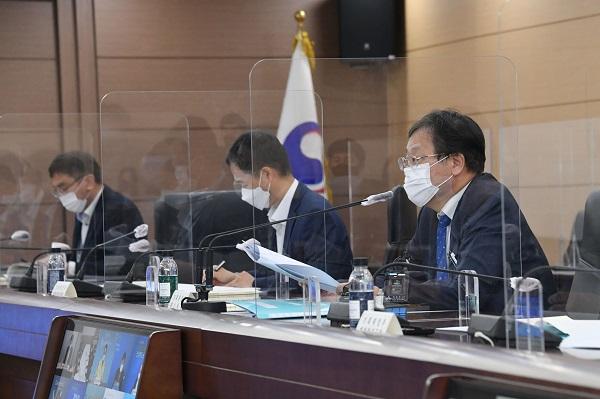 안일환 기획재정부 차관이 26일 세종시 정부세종청사에서 열린 '제22차 재정관리점검회의'를 주재, 모두발언을 하고 있다. (사진=기획재정부)