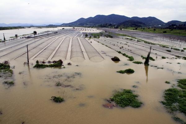 홍수 피해 모습.(출처=뉴스1)