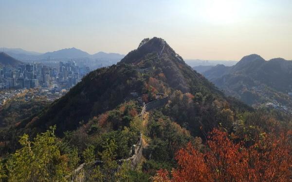 곡장에서 바라보면 북악산과 한양도성, 멀리 인왕산까지 보이는 비경이 펼쳐진다.