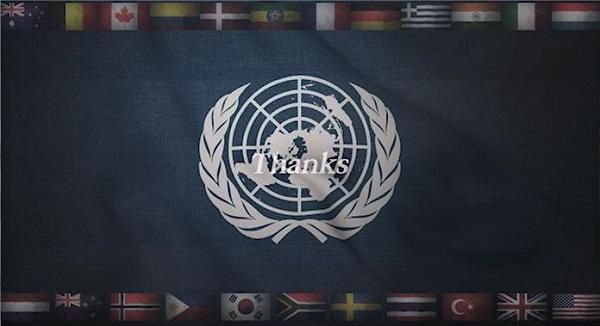 유엔참전용사 감사 영상 주요 이미지.