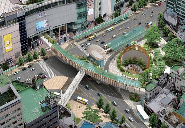 최우수역사로 선정된 수원역 GTX 역사 환승센터 조감도.(국토교통부 제공)