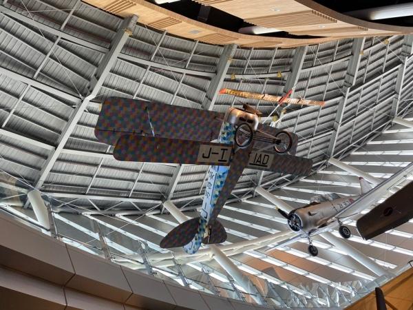 국내 최초 비행-안창남 선생님의 '금강호'의 복원된 모습.