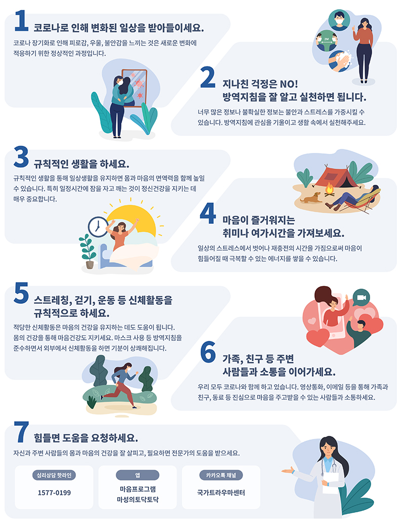 코로나19와 함께하는 마음건강 지키는 7가지 수칙.