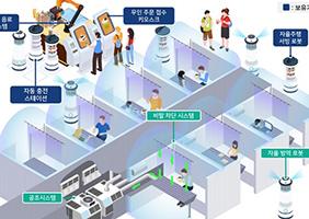 비말 차단 테이블·소독 로봇…똑똑한 무인 카페