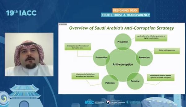 모하마드 알데카일 사우디아라비아 대통령 직속 반부패관리청(NAZAHA) 국장(출처=IACC 누리집)