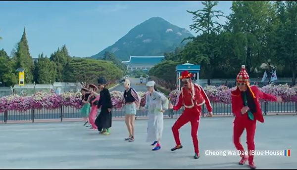 밴드 이날치가 참여, 큰 화제를 모은 한국관광공사의 홍보영상 'Feel the Rhythm of Korea' 한 장면.