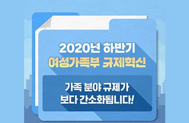 2020년 하반기 여성가족부 규제혁신