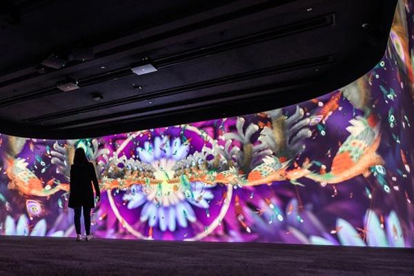 국립중앙박물관 내 '디지털 실감영상관'에서 만날 수 있는 '신선들의 잔치' 모습. (사진= 국립중앙박물관)