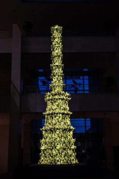 지난해 대표적인 실감콘텐츠 사업으로 꼽힌 국립중앙박물관의 경천사 10층 석탑의 모습. (사진=국립중앙박물관)