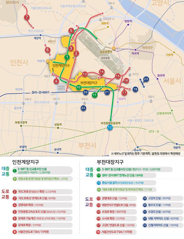 인천 계양·부천 대장 광역교통개선대책 이미지.