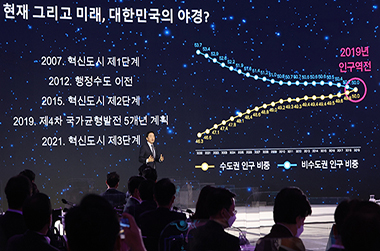강훈식 지역균형발전 분과장이 지난해 11월 16일 오후 서울 동대문디자인플라자에서 열린 제3차 한국판 뉴딜 전략회의에서 지역균형발전 분과를 발표하고 있다.