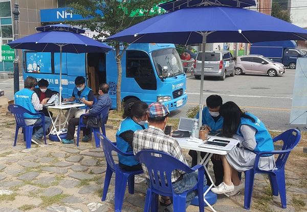 충북지역의 '에듀버스' 현장 모습.(사진=디지털배움터)