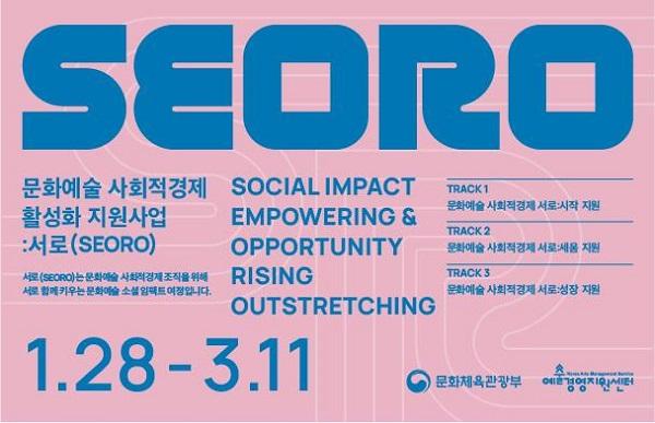 '문화예술 사회적경제 지원사업 브랜드 이미지(BI) 서로(SEORO)'