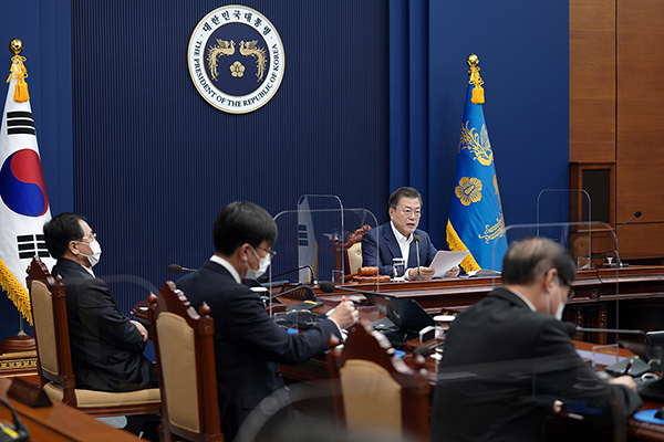 문재인 대통령이 16일 오전 청와대에서 열린 제7회 국무회의에서 발언하고 있다. (사진=청와대)