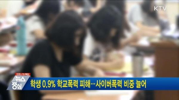 학생 100명의 한 명꼴로 학교폭력 피해를 보고 있다.