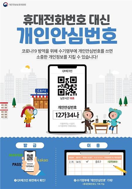 개인안심번호 도입 홍보 포스터