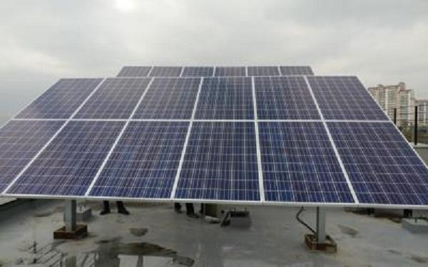 육지에서 실험 가능한 태양광에너지 테스트 베드 구축 모습.