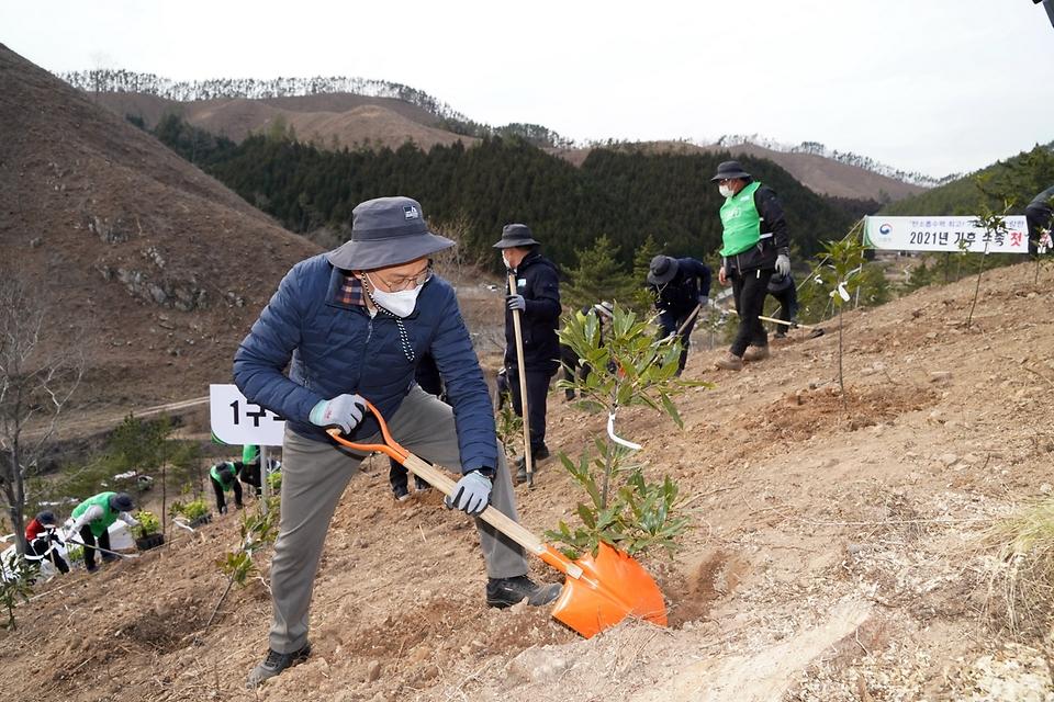 탄소중립 달성 위한 '첫 나무심기'