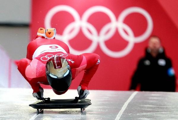 2018 평창동계올림픽 남자 스켈레톤 경기에 참여한 윤성빈 선수.(사진=평창동계올림픽 조직위원회)