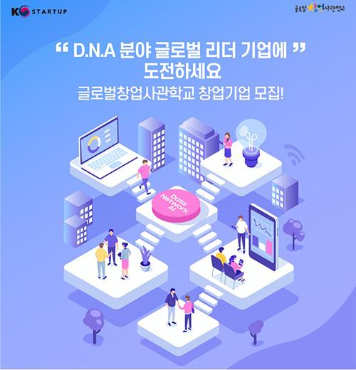 글로벌창업사관학교 입교팀 모집 포스터.