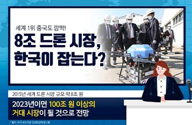 세계 1위 중국도 깜짝! 8조 드론시장 한국이 잡는다?!