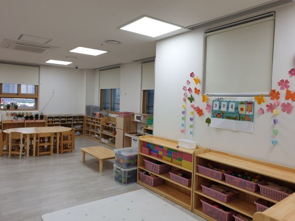 아이들이 하원한 뒤에도 교실이 아늑하다.