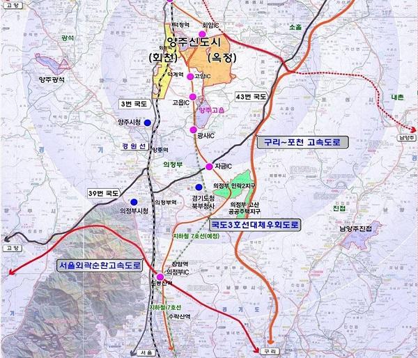 양주회천 택지공모 현황.