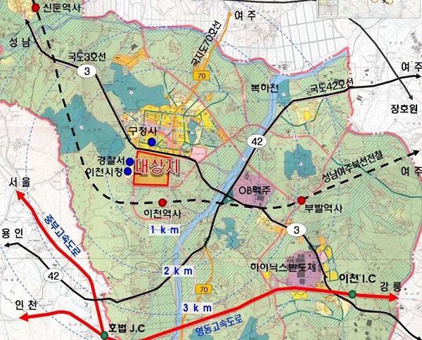 이천중리 택지공모 현황.
