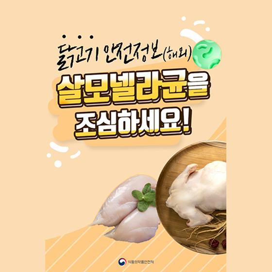 닭고기 안전정보(해외) 살모넬라균을 조심하세요!